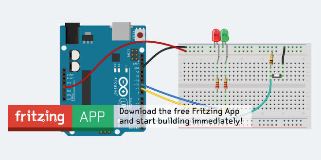 fritzing tutorials #1 - getting started with fritzing, Wiring diagram